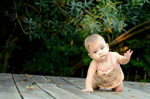 Reese Crawling on the Deck | by donnierayjones