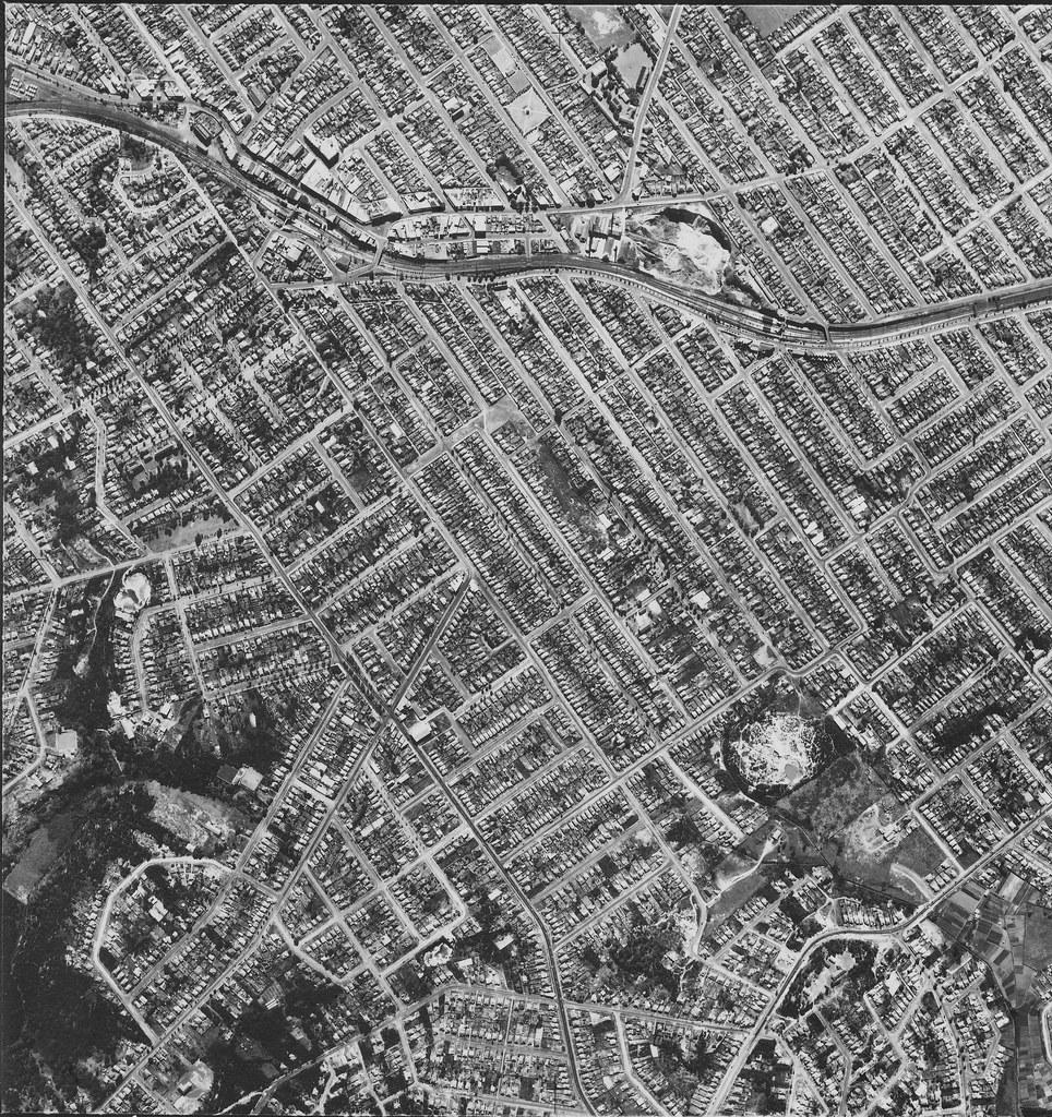 Hurstville & Allawah 1951 - Sydney aerial photo
