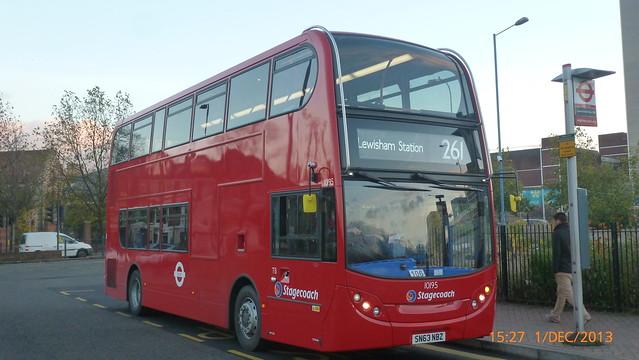 P1180622 10195 SN63 NBZ at Lewisham Station Station Road Lewisham London