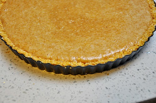 Pumpkin & Coconut Tart - A Gluten Free Baking Recipe | www.fussfreecooking.com | by fussfreecooking