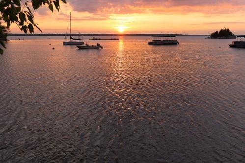 sunset boats island vermont unitedstates highgate