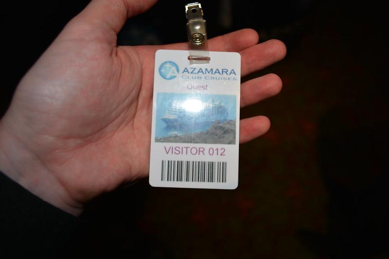 Le précieux sésame ! Visite de l'AZAMARA QUEST - Cérémonie de bienvenue - 20 aout 2013