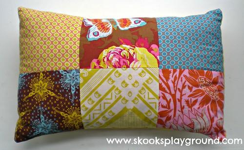 Patchwork Pillow A   by SkooksPlayground