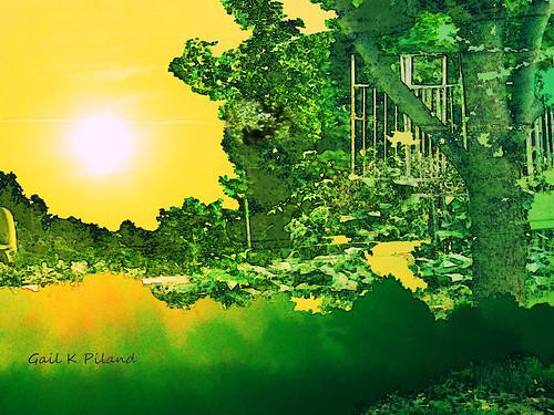 sky sun green nature landscape surreal september photoart hypothetical vividimagination artdigital greenscene thebestofday awardtree gailpiland ringexcellence netartii
