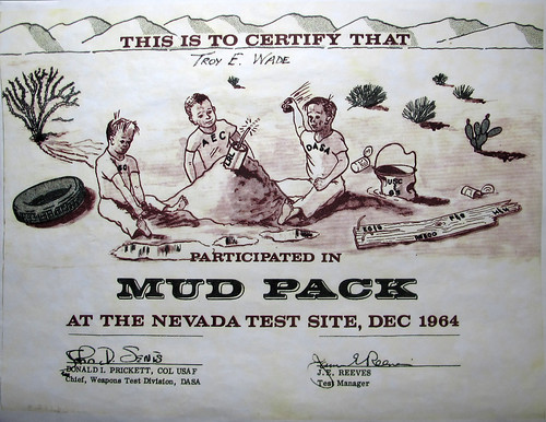 Mud Pack Nuclear Test Certificate 1964