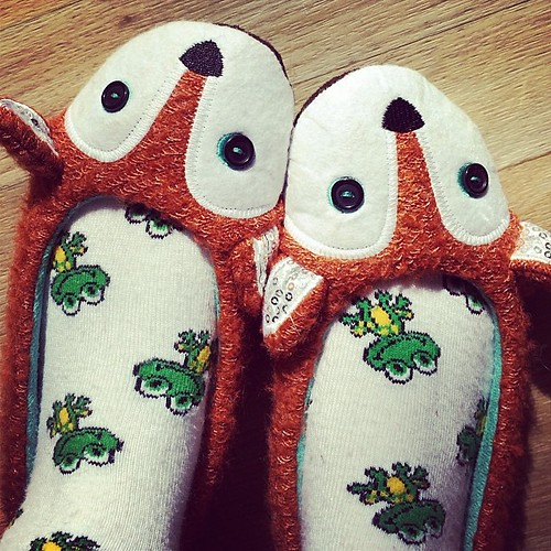 Fox slippers! | by juli anna