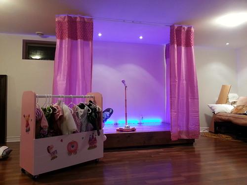 Stage and costume wardrobe - kids playroom