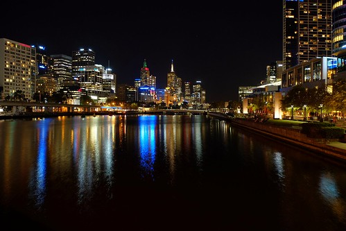 melbourne australia river night nightview building mirror fujifilm xt1 xf1655