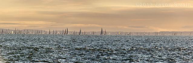 2013 Round the Island Race (RTIR) Panorama.