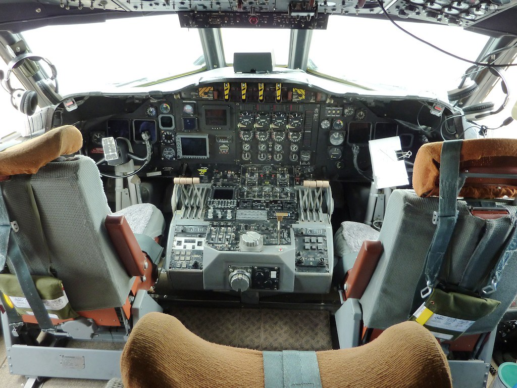 Cockpit of NOAA Lockheed WP-3D Orion