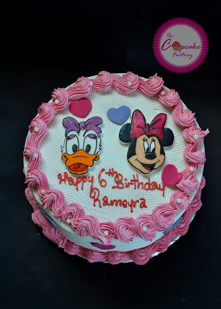 Pleasant Daisy Duck And Minnie Mouse Cake The Cupcake Factory Barbados Personalised Birthday Cards Paralily Jamesorg
