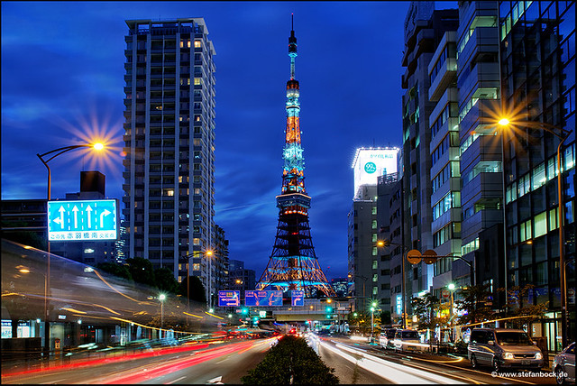 Tokyo Tower With Traffic