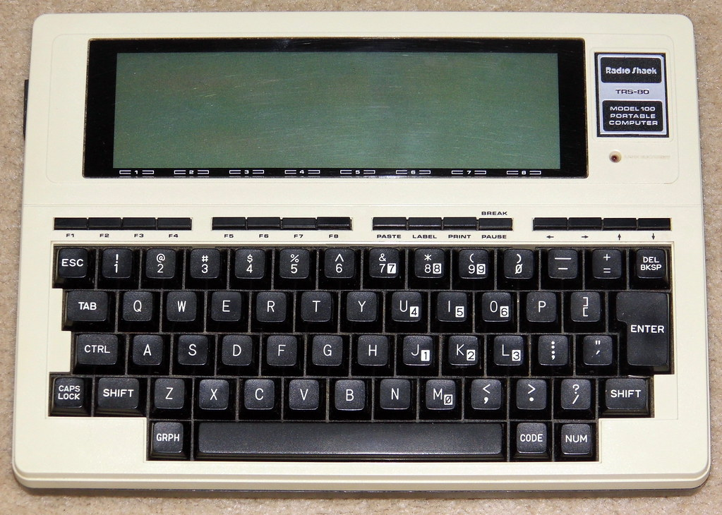 Vintage TRS-80 Model 100 Notebook Style Personal Computer