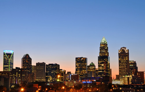 city sunset urban skyline nc downtown charlotte dusk central northcarolina center uptown charlotteskyline uptowncharlotte