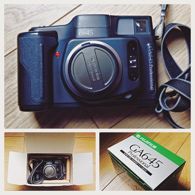New camera arrives! :) a 1995 #fujiga645 #mediumformat #filmcamera #ilovefilm #ishootfilm #filmrocks #filmisnotdead #645 www.MrLeica.com
