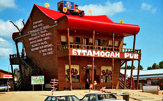 "Oct 1995 - The iconic & visually amusing ""Ettamogah Pub"" at Tabletop, New South Wales, Australia"