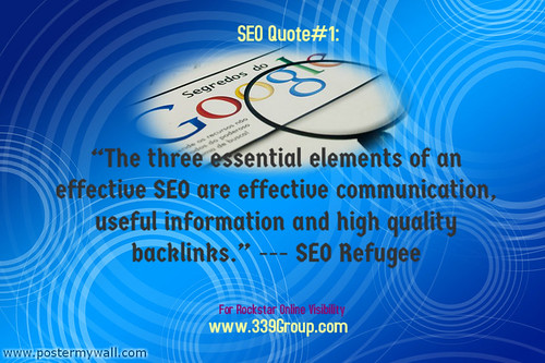 SEO Quote-SEO Refugee | by iwrite4money