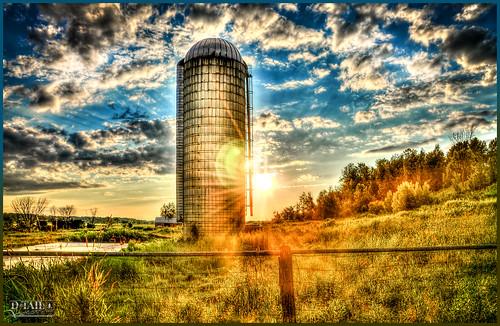 sunset sky nature soleil nikon flickr silo ciel nuage hdr hightdynamicrange d7000 dtailvision