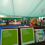 Brochures in the Entrance Tent |