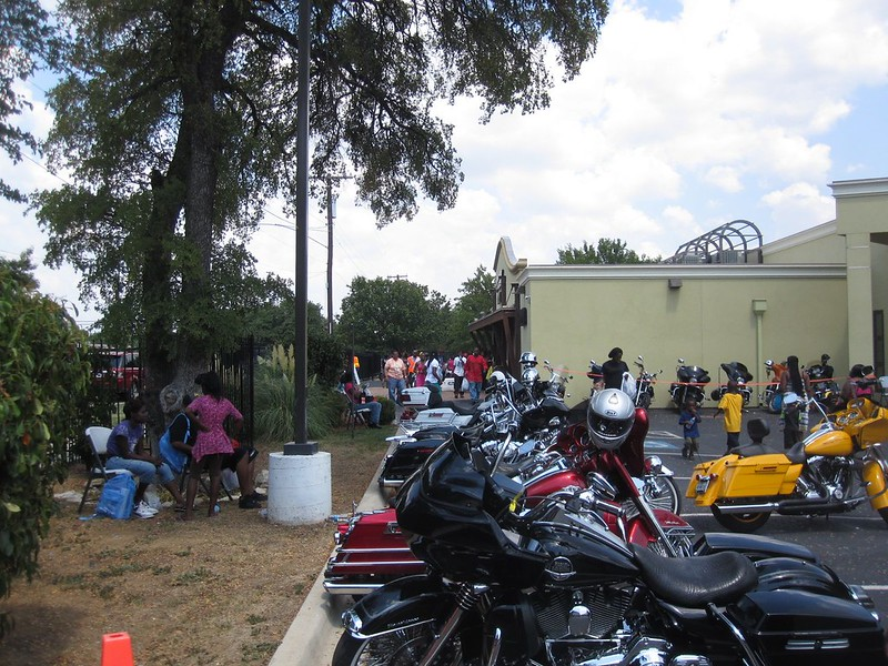 As always, colorful bikes were plentiful. The Dallas Christian Bikers and other bike associations drove home the importance of being prepared on the first day of school. Not only did they support this year's event, they were also its organizers.