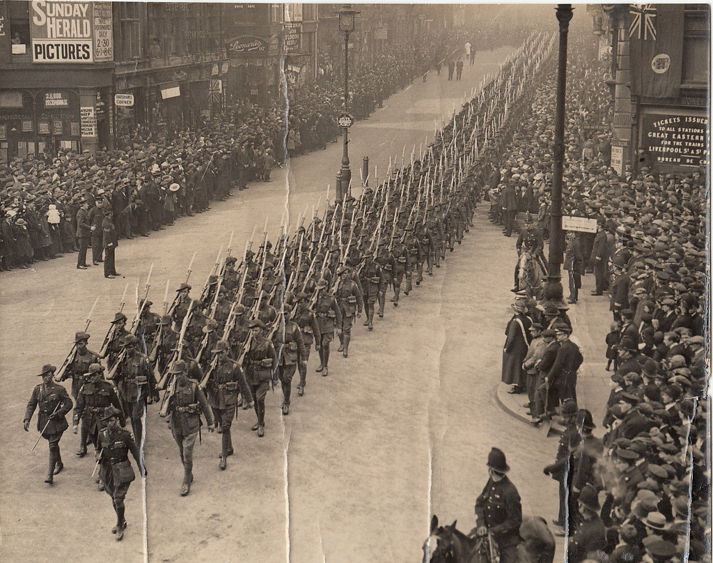 Ww1 Australian Infantry Forces Marching Through London En