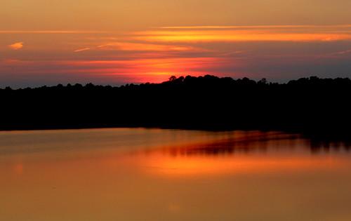 sunset northcarolina lakecrabtree
