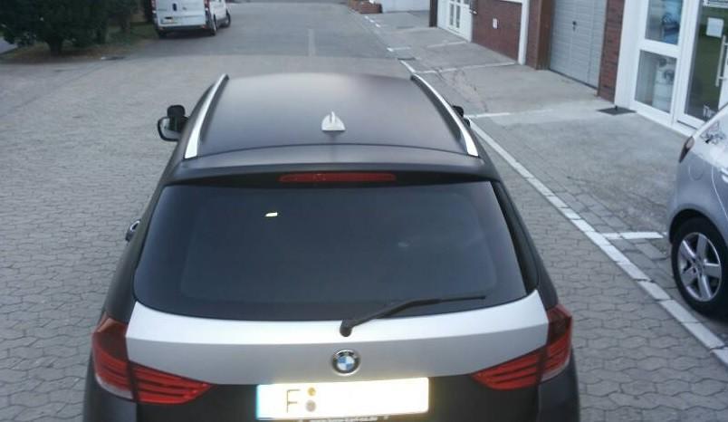 Bmw X1 Car Wrapping In Matt Metallic Schwarz Bmw X1 Vollve Flickr