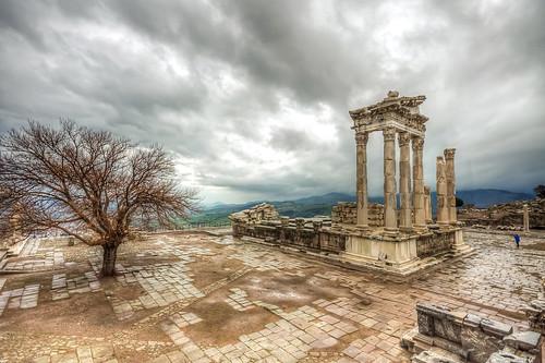 The Temple of Trajan in the rain, Bergama | by Nejdet Duzen