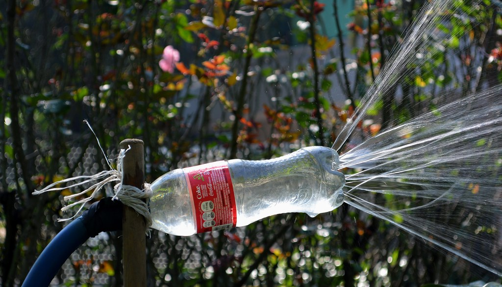 Mexican Water Sprinkler | Upcycle Your Plastic Bottles With These DIY Projects To Save The Earth | clear plastic bottles