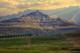 road to on high a landscape of the drakensberg mountains kwazulunatal south africa processed in hdr | by Steve Slater (used to be Wildlife Encounters)