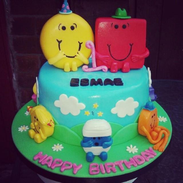 Mr Men Birthday Cake For A Girls 1st
