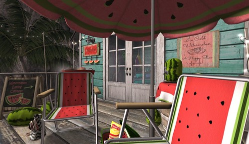 Fiesta Beach Shack: FT Slice of Life Watermelon Chairs | by Hidden Gems in Second Life (Interior Designer)