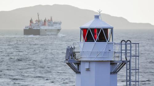 Rhue lighthouse + Ullapool-Stornoway ferry, Scotland | by The Light Cavalry