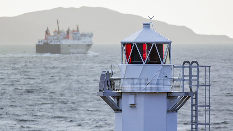 Rhue lighthouse + Ullapool-Stornoway ferry, Scotland