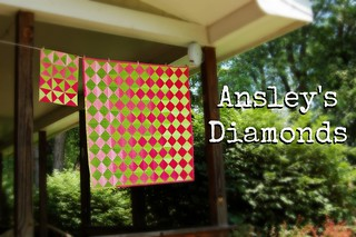 Ansley's Diamonds Baby Quilt Title   by Sarah.WV