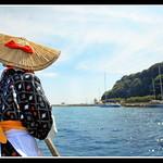 たらい舟の女船頭さん/ Tub boat's boatwoman