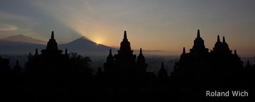 world morning heritage statue sunrise indonesia temple dawn java asia buddha stupa buddhist south unesco east southeast borobudur stupas borbodur