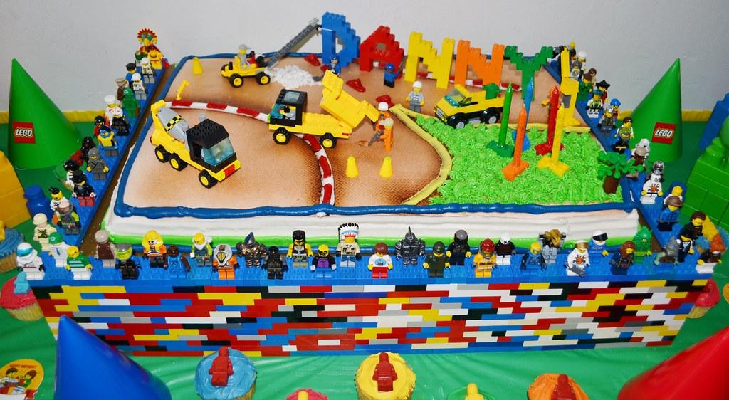 Tremendous Amazing Lego Birthday Cake Lego Birthday Cake Decorated Wi Flickr Personalised Birthday Cards Veneteletsinfo
