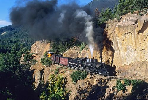 railroad train colorado smoke cliffs steam co narrowgauge rockwood steamlocomotive passengertrain 282 dsng touristtrain railfest mikato mixedfreight durangoandsilvertonnarrowgaugerailroad no473 photoextra