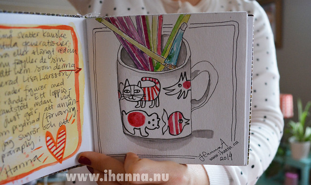 Lisa Larsson Coffee Cup drawn by iHanna (copyright Hanna Andersson)