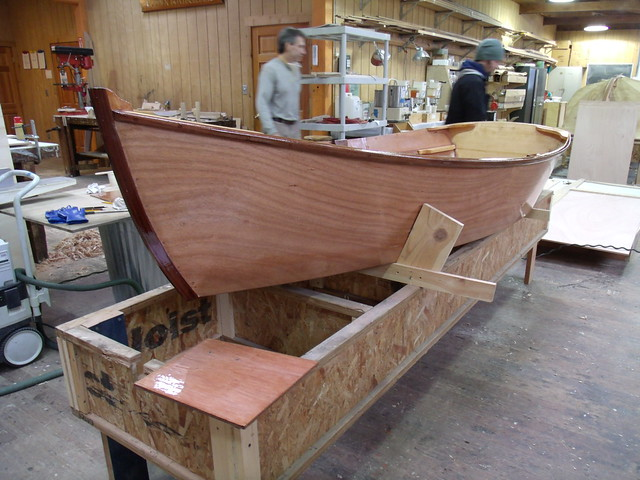 GEDC5196 - Port Hadlock WA - Northwest School of Wooden Boatbuilding - Contemporary Program - John Atkin-designed FLIPPER dinghy under construction