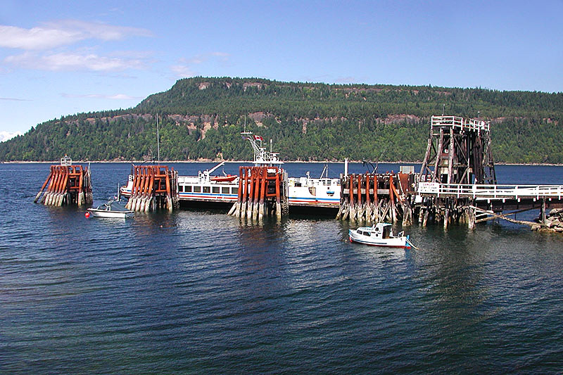 Gravelly Bay Ferry Terminal, Denman Island, Gulf Islands, Georgia Strait, British Columbia, Canada