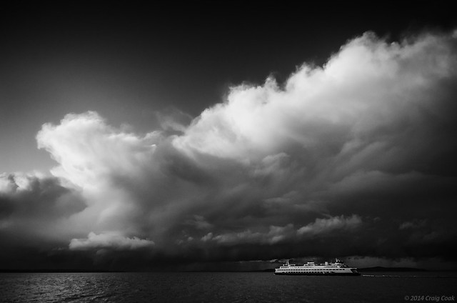 Storm clouds over Puget Sound