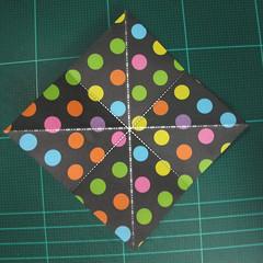 การพับกระดาษเป็นถุงใส่ขนมแบบญี่ปุ่น (Origami Sambo) 002