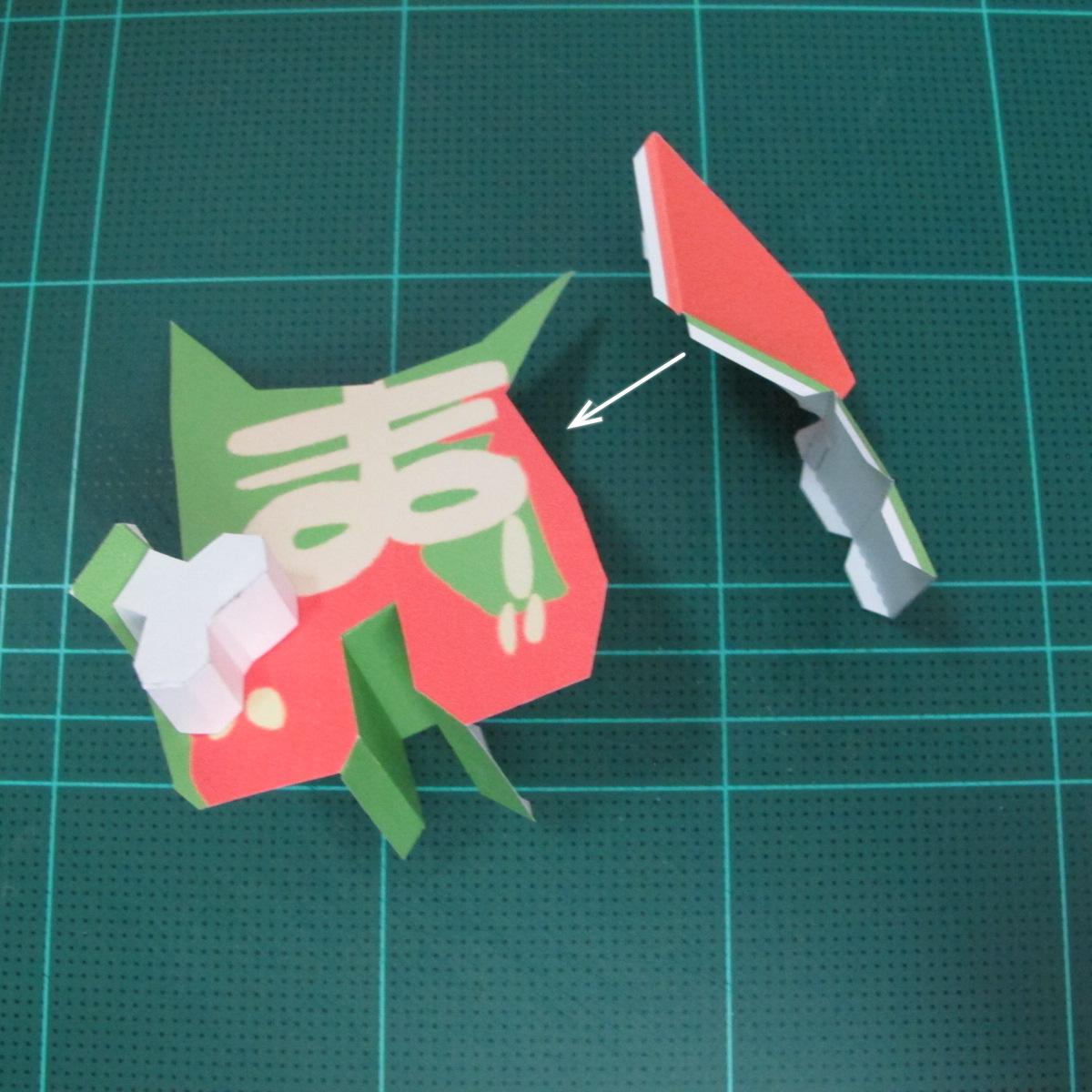 วิธีทำโมเดลกระดาษตุ้กตา คุกกี้ รัน คุกกี้รสซอมบี้ (LINE Cookie Run Zombie Cookie Papercraft Model) 020