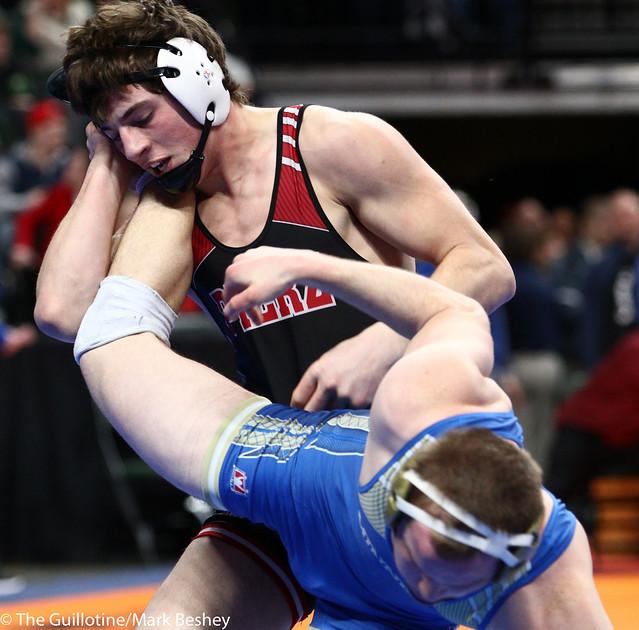 182A - Semifinal - Brett Kapsner (Pierz) 40-2 won in sudden victory - 1 over Alec Bueltel (Minneota) 34-5 (SV-1 3-1)