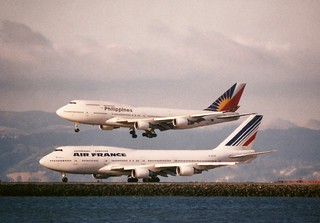 Air France and Philippines Airlines Boeing 747 -400,  SFO wide-bodies 3K views 3 faves