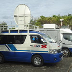 Okinawa TV Vans We were there to see the very first Osprey deployed to Futenma. However, as there was a helicopter crash at Camp Hansen, they canceled the Osprey thing.