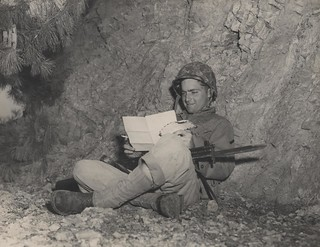 """Reading the Letter in a Foxhole in Korea"" 