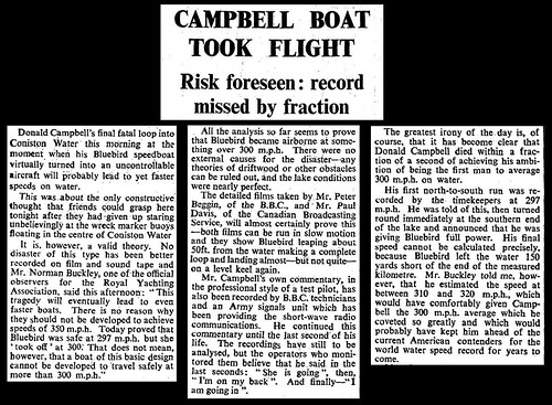 4th January 1967 - Donald Campbell died in Bluebird | by Bradford Timeline